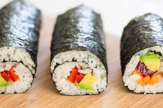 Vegan sushi and homemade pickled ginger make a perfect light meal. Contrary to popular belief, making a sushi roll isn't difficult - we'll show you how.