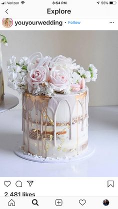 Amazing cake idea for your inspo 😍 Double tap if this could be your dream wedding cake … . Cake by Beautiful Birthday Cakes, Beautiful Cakes, Amazing Cakes, Pretty Cakes, Cute Cakes, Wedding Cake Stands, Wedding Cakes, Wedding Anniversary Cakes, Pasteles Halloween