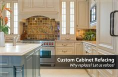 Cabinet refacing kitchen refacing and custom kitchen cabinets