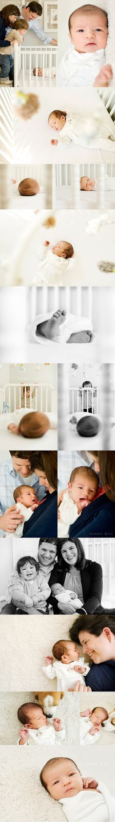 Fun Family Photography Session with Newborn. I love the crib photos.