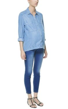 MATERNITY JEANS WITH ELASTICATED WAIST - Jeans - Woman - New collection | ZARA United States