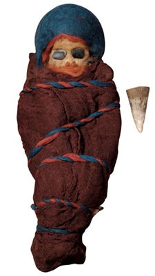 Tarim Mummies. Infant mummy, ca 8th century BCE. Excavated from Zaghunluq, Charchan, Xinjiang Uygur Autonomous Region, China. © Wang Da-Gang.