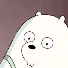 cartoon : we bare bears character : ice bear Cartoon Icons, Bear Cartoon, Cute Cartoon, Ice Bear We Bare Bears, We Bear, We Bare Bears Wallpapers, Cute Wallpapers, Adventure Time Gif, Bear Meme