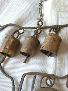 Primitive Antique Copper Cow Bell Wind by MariasFarmhouse on Etsy, $28.00
