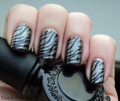 Konad M69, Zebra, Black/Glitter