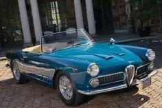 Automobilhersteller: Alfa Romeo Modell: 2000 Spider-Serie 102,04 Touring Jahr: 1958-1961 Kunst: Kabriolett