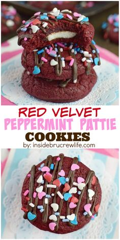 These easy red velvet cookies have a hidden peppermint pattie center that everyone will love.