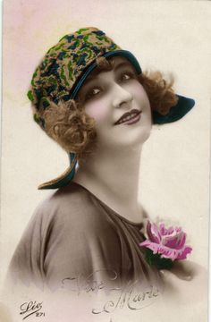 Beautiful Flapper Girl With HAT Deco Photo Postcard 1920'S | eBay