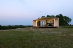 Passion House-Prefabricated modular house maximizing efficiency and highlighting modernism.