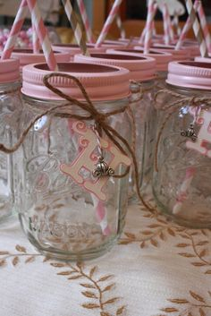 Cinderella Inspired Party Initial and Pumpkin Carriage Charm Mason Jars