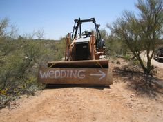 Now this is a rural wedding sign!!!!
