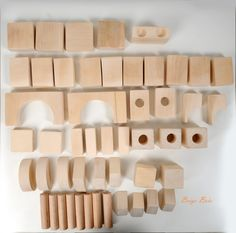 Each block has rounded and smooth safety edges. The basic block is x x and the set comes in different sizes and shapes. Handmade Wooden Toys, Safety, Smooth, Organic, Shapes, Building, Security Guard, Construction, Architectural Engineering
