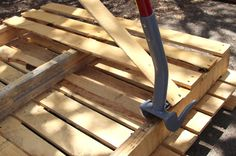 """This is an """"awesome"""" article on how to select, break down, and prepare pallets for us creative crafters to use as we like to make anything! There are many suggestions and how to's on this site. You will love it as much as I did!!"""