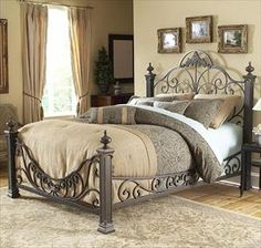 Picture of California King Baroque Metal Bed ~ from NFM LOVE, LOVE, LOVE THIS BED!!!!