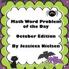 $ (Perfect for grade 3-5)In this package you will find an October themed word problem for each school day in October. (Please note: The math questions for the month of Octo...
