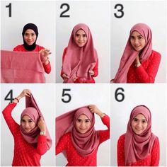 Your Professional Pin Tutorial Hijab Segitiga, Tutorial Hijab Pashmina, Simple Hijab Tutorial, Stylish Hijab, Casual Hijab Outfit, Ootd Hijab, Hijab Chic, Modern Hijab Fashion, Street Hijab Fashion