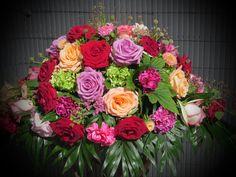 Rosen in bordeaux, aprico, rosa, lila und pink