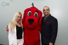 Actor/rapper Ice-T w/ wife Coco Austin with Clifford the Big Red Dog in Ice T, Red Dog, Canada Goose Jackets, Rapper, Winter Jackets, Singer, Actors, Big, Winter Coats
