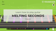 Guitar for a beginner. Learn Melting Seconds by The Yousicians guitar chords with Yousician. Guitar Songs For Beginners, Easy Guitar Songs, Guitar Chords, Acoustic Guitar, Learn To Play Guitar, Playing Guitar, Teacher, Motivation, Learning