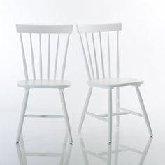 Chaise vintage en hévéa blanche | Vintage chairs, Studio apartment ...