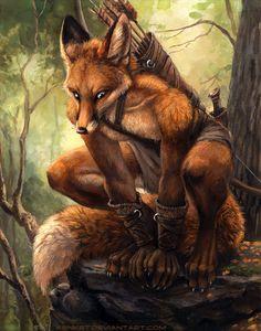 Robin Hood by kenket.deviantart.com #anthro #furry #illustration