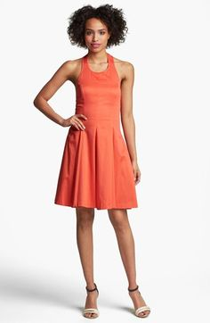 Jessica Simpson Fit & Flare Halter Dress available at #Nordstrom