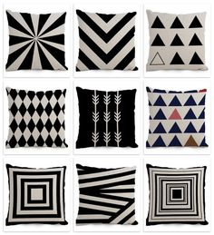 Cushion Cover Geometric Diamond Nordic Black White Cushion Cover Stripe Home Sofa Decor Car Cushion Cases Large Cushion Covers, Outdoor Cushion Covers, Sofa Cushion Covers, Outdoor Cushions, Chair Cushions, Sofa Chair, Decorative Cushions, Decorative Pillow Covers, Throw Pillow Covers