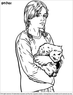 Hermione Granger - Harry Potter 1 – 999 Coloring Pages | Pictures to ...
