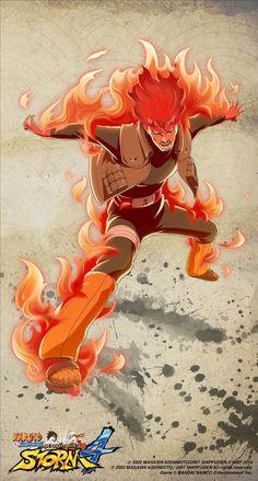 aura burning fire flaming_hair full_body glowing glowing_eyes jacket logo might_guy naruto naruto_shippuuden official_art open_clothes open_jacket solo Itachi Uchiha, Naruto Shippuden, Naruto And Sasuke, Anime Naruto, Boruto, Ninja, Best Animes Ever, Anime Fight, Naruto Characters