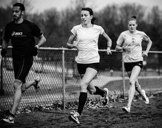 Strong legs. Racing heart. Peaceful mind. Haute Volée athlete Lauren Penney (middle) photographed by Zach Hetrich.
