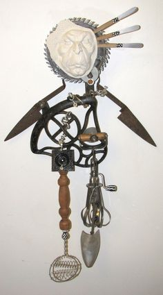 whimsical junk assemblage | Rusty Around The Edges Recycled found object sculpture Just won Martha ...