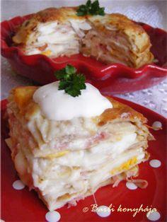 Barbi konyhája: Rakott palacsinta sonkával, camemberttel, tojással + diétás napi étrend
