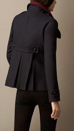 Manteau color-block en laine feutrée mélangée   Burberry Veste En Cuir,  Jupe, e8dcd2cd188