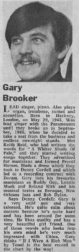 Procol Harum band-file in an early newspaper Rock Music, My Music, Procol Harum, Psychedelic Bands, Freddy 3, Hollywood Forever Cemetery, Burt Reynolds, Newspaper Article, Call Art