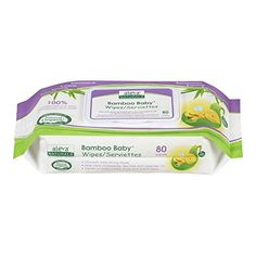 Aleva Naturals Bamboo Baby Wipes 80 Count Pack of 6 >>> Want additional info? Click on the image.