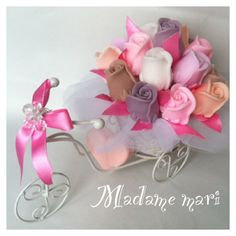 Sabun güllerden bisiklet