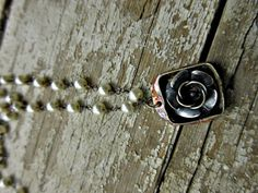 Roses and pearls necklace by Weathered Soul Jewelry artisan