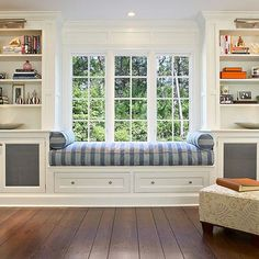 Built In Bookshelves For Chris Window Seat And Built In Bookcases