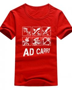 lol ad carry t shirt for men League of Legends-