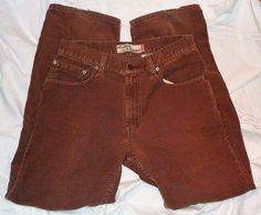 $15.99 OBO Levi's 559 Red Tag Relaxed Straight Corduroy Brown Jeans Men's 32X31 Excellent #Levis #Relaxed