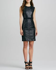 Rebecca Taylor leather panel dress ON SALE #onsale #currentlyobsessed