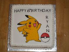 Pokemon Cake - Pikachu Pokemon Party, Pokemon Birthday, Play Pokemon, Sons Birthday, Birthday Cake, Pikachu Cake, Cupcake Cakes, Cupcakes, Yummy Cakes