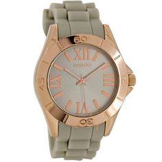 Ρολόι Oozoo Timepieces 40mm RoseGold Case - Grey Rubber Strap Had Enough 50445897561