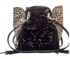 Sexy Sequined Leopard Tassels Handbags Shoulder Bag