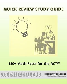 150+ Must Know Math Facts for the ACT Test (College Test Prep Study Notes) #education #science #school #college #math #teacher #download #literature #studyaids https://sellfy.com/p/jxQz/ https://www.pinterest.com/sellfy0234