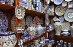 Typical Fes pottery