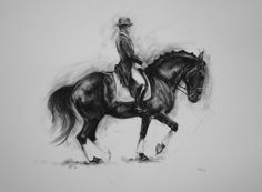 Original energy and movement equine by heatherirvinefineart