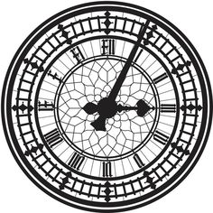 Big Ben, London, Illustration Design Print (24 BRL) ❤ liked on Polyvore featuring home, home decor, fillers, clocks, backgrounds, circle, decor, effects, round and doodle