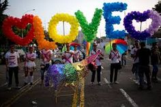 Image result for gay pride balloons