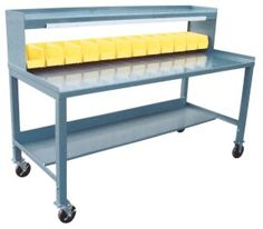 Mobile Work Stations With Plastic Bins And Riser will ship READY TO USE! ORDER  now!!